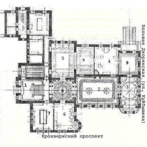 особняк план схема